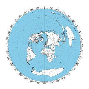 London Great Circle Map