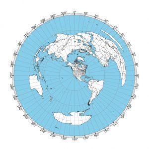 Los Angeles Great Circle Map