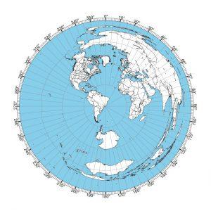 Rio de Janeiro Great Circle Map