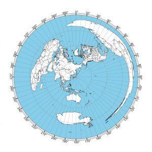 Tokyo Great Circle Map